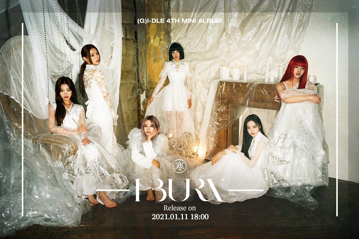 K-pop (G)I-DLE ปล่อยอัลบั้มใหม่รับปี 2021 (G)I-DLE วงเกิร์ลกรุ๊ป ที่รวม 6 สาวแสนสวยหลากสไตล์เอาไว้ด้วยกัน โดยในปีก่อนพวกเธอก็ได้ฝากผลงาน  Remove term: (G)I-DLE (G)I-DLERemove term: อัลบั้มใหม่รับปี 2021 อัลบั้มใหม่รับปี 2021Remove term: เพลงใหม่2021 เพลงใหม่2021Remove term: (G)I-DLE วงเกิร์ลกรุ๊ป (G)I-DLE วงเกิร์ลกรุ๊ปRemove term: I burn I burnRemove term: ข่าววงการเพลงเดือนมกราปี2021 ข่าววงการเพลงเดือนมกราปี2021Remove term: ศิลปินเกาหลี ศิลปินเกาหลีRemove term: นักร้องเกาหลี นักร้องเกาหลีRemove term: k-pop k-pop