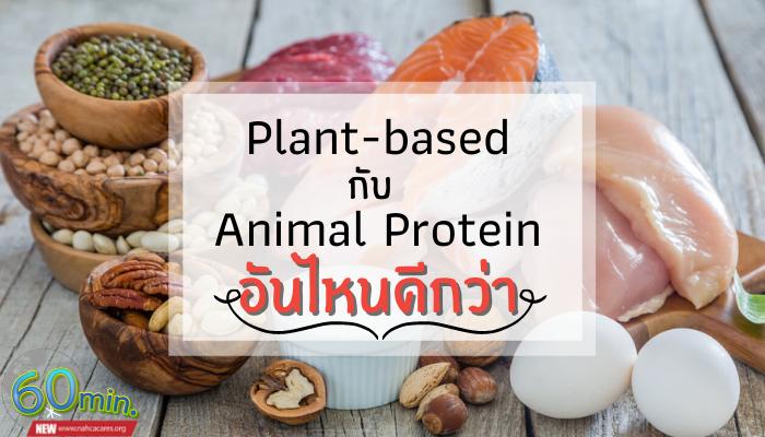 Plant-based กับ Animal Protein อันไหนดีกว่า