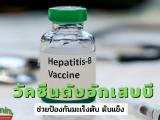 วัคซีนไวรัสตับอักเสบบี ไวรัสตับอักเสบบีเป็นเชื้อที่ทำให้คนเราเป็นโรคมะเร็งตับ ตับแข็ง ตับวายซึ่งโรคเหล่านี้เกิดขึ้นมาเพราะร่างกายได้สะสม